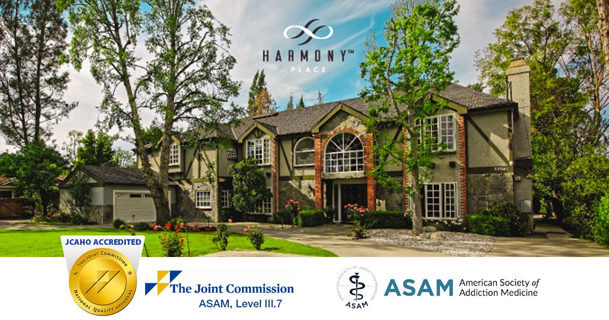 JCAHO Certifies Harmony Place as CA Residential Treatment Facility With ASAM III.7 Designation